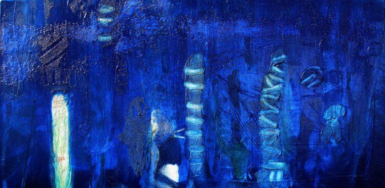Martina Kaiser, Acrylmalerei, Kunst, licgr, Blautöne