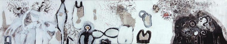 martina kaiser, Collage, Papier, schwarzweiss, Malerei